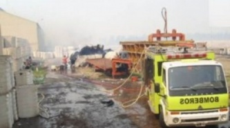 Hermoso Campo: controlan incendio en una algodonera tras 12 horas de fuego