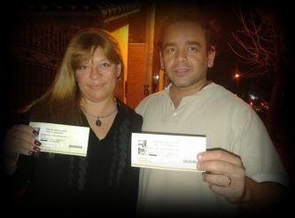 Romina y Emilio fueron los ganadores de las entradas VIP para ver el recital de ROSANA