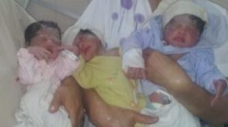 """Nacieron trillizas en el Hospital """"4 de Junio"""" de Sáenz Peña"""