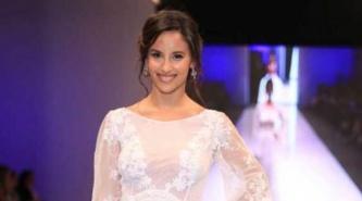 Lourdes Sánchez se puso el traje de novia para el Chato Prada