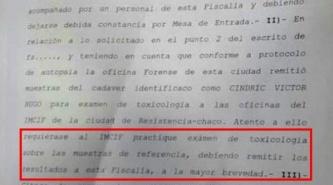 Caso Victor Cindric: Ordenan realizar exámen toxicológico