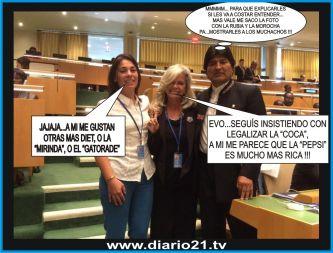 Exclusivo: charla íntima entre el Presidente de Bolivia y la Senadora Pilatti Vergara