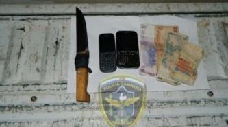Resistencia: Capturan a motochorro con cuchillo y elementos robados