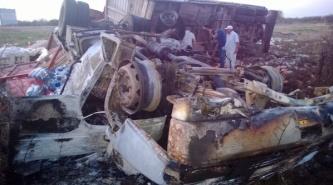 Du Graty: Gabriel Seiler tuvo un fuerte accidente en el que se incendió su camión