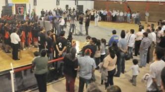 Bacileff inauguró obras en el club San Fernando de Resistencia