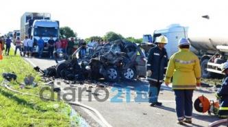 Accidente fatal sobre Ruta 95 a 5 km al sur de Gato Colorado