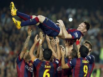 Lio Messi hizo su gol 253 y es el máximo goleador de la historia de España