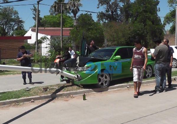 Exclusivo: Otro accidente en la trágica avenida 33 de Sáenz Peña