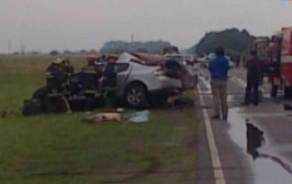 Cinco muertos en un choque en Magdalena en el Kilómetro 89 de la Ruta 36