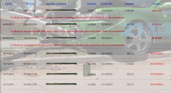 Sáenz Peña: El automóvil que chocó en la Av. 33 tiene 7 multas de tránsito