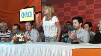 """""""Vamos a ser Gobierno este año"""", dijo eufórica Aida Ayala en el acto de la Unidad Radical"""