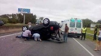 Grave accidente de Barbie Vélez en la Ruta 2