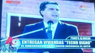 Capitanich inauguró viviendas y pavimento en Pampa Almirón
