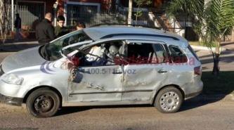 Corrientes: Camionero no lo vio, lo cerró y le destruyó el automóvil