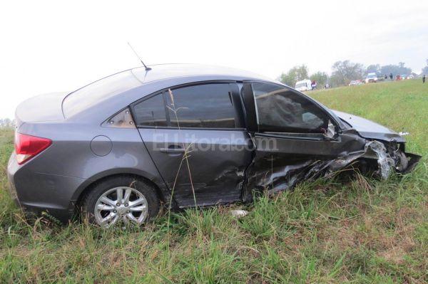 Un muerto en un triple choque sobre ruta 34 en Rafaela