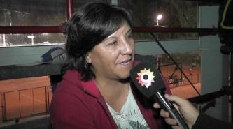 Nora Mansilla la abuela en las tribunas del Panamericano