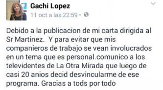 """¿Por culpa de la política, """"Gachi"""" Lopez renunció al programa """"La Otra Mirada""""?"""