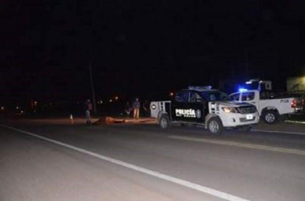 General Pinedo: reconocido joven de 18 años muere al ser chocado por un auto