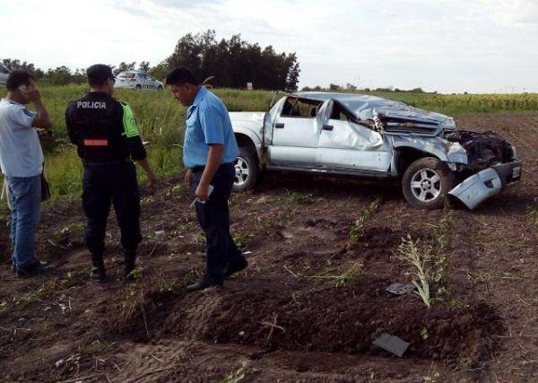 San Bernardo: Volcó y se salvó de milagro por Ruta 95