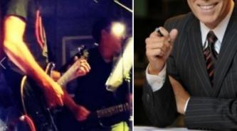 Famoso periodista se probó como estrella de rock