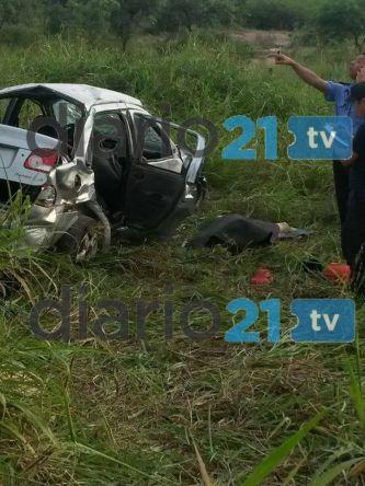 Vuelco fatal en la ruta 16: Dos muertos y dos heridos