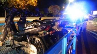 La Caminera secuestró 14 motos en controles en Puerto Tirol