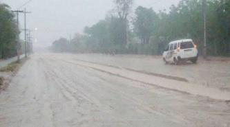 La lluvia alivió el calor en partes de la provincia