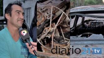 """Los quemacoches atacaron en Resistencia: """"Las llamas era muy altas, me asusté mucho"""""""