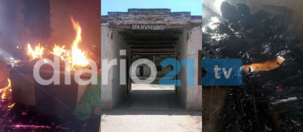 Sin perdón: Incendiaron y destruyeron una escuelita de El Sauzalito