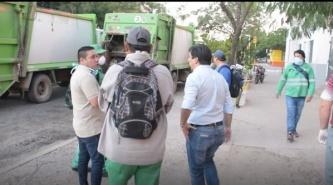 Gustavo Martínez extrema medidas sanitarias en los servicios de limpieza del Municipio