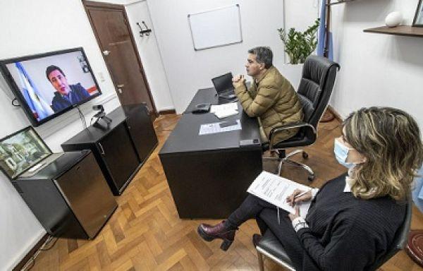 diario21.tv - En teleconferencia con funcionarios nacionales ...